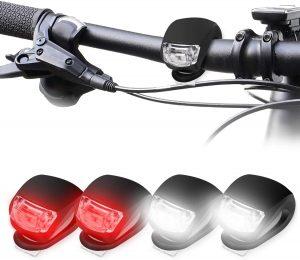 Kit de luces para bicicleta a pilas